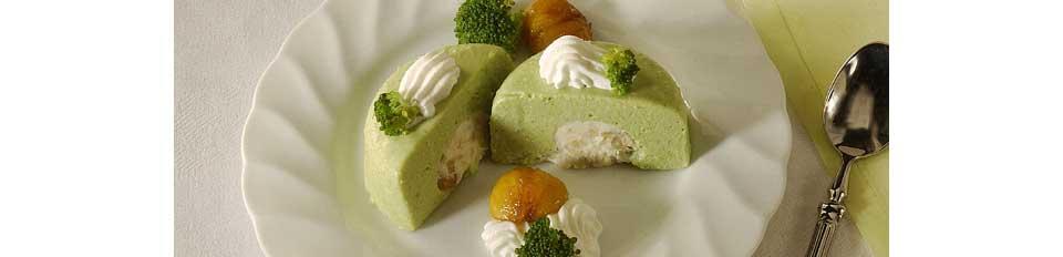 Gemüseterrine Broccoli Mousse mit Gorgonzola Füllung