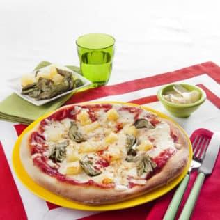 Pizza mit Artischocken und Kartoffeln - Galbani Mozzarella