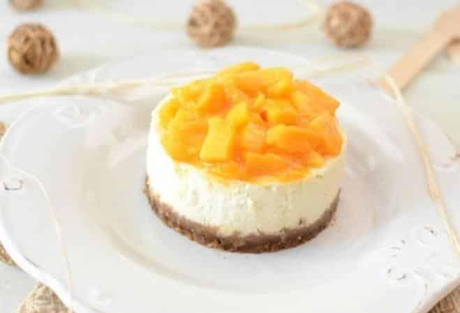 rezept cheesecake mit ricotta und mango. Black Bedroom Furniture Sets. Home Design Ideas