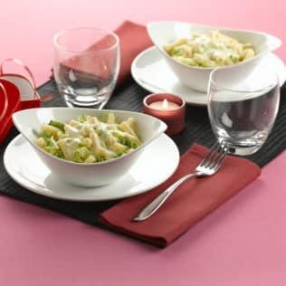 Cremige Pasta mit Gorgonzola und Weißkohl