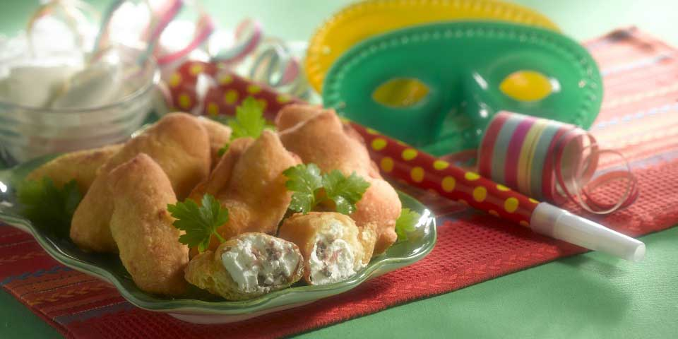 Herzhafte Pfannkuchen gefüllt mit Sardellen und Ricotta - Crespelle