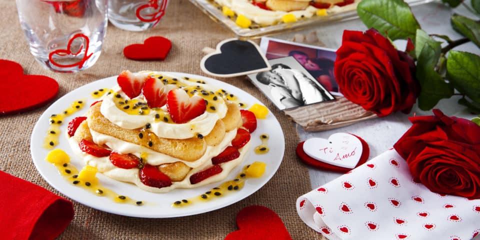 Erdbeer-Maracuja Tiramisu