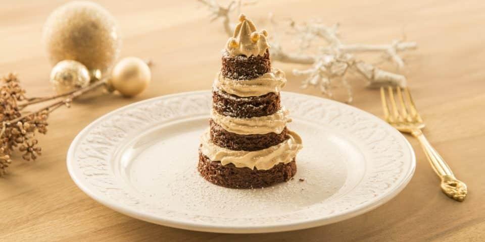 Brownie -Tiramisu-Bäumchen