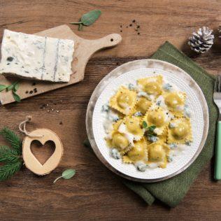 Kürbis-Ravioli mit Galbani Gorgonzola Cremoso
