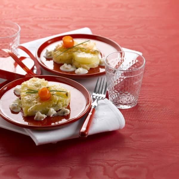 Kartoffel-Schnitte mit Gorgonzola