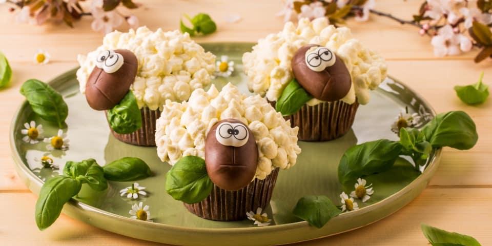 Schäfchen Muffins mit Galbani Mascarpone