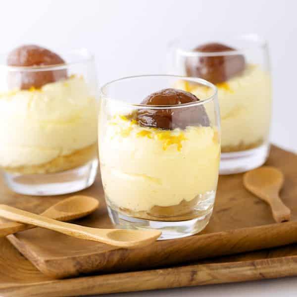 Tiramisu mit kandierten Kastanien, Whisky und Orangen
