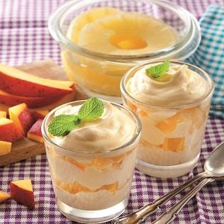 Exotisches Mango Ananas Tiramisu im Glas Galbani