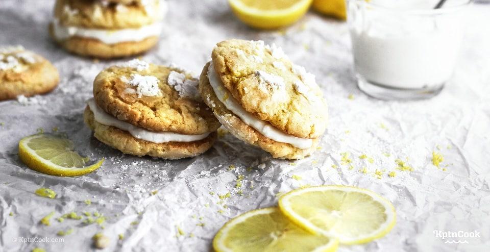 Zitronen-Doppelkekse-mit-Mascarpone-Füllung