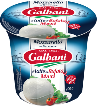 Mozzarella Bufala Maxi 200g 3D