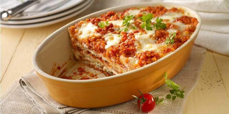 rezept lasagne mit linsenbolognese. Black Bedroom Furniture Sets. Home Design Ideas